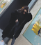 Womens  Faux Fur Full Length Thicken Hooded Warm Loos Korean Trench Coats A1049