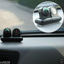1pcs 2in1 Mini Double-sided Adhesive In-Car Guide Ball Gyro Compass Thermometer