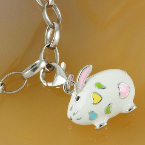 Kaninchen Bettelarmband /& Anhänger Auswahl Set NEU Charm 925 Silber Hase