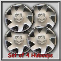 14 Silver Hubcaps, Wheel Covers Fits Steel Wheels, Toyota, Nissan, Honda, Etc.