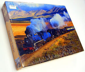 RARE - NEW FACTORY SEALED 2003 JIGSAW PUZZLE SPRINGBOK STEM TRAIN TREK 500 (USA)