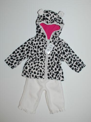 Baby traje ~ estados unidos ~ 68-74 ~ CHAQUETA PANTALÓN ~ Fleece ~ Baby overall ~ orejas ~ Weiss ~ place ~ getigert ~ nuevo