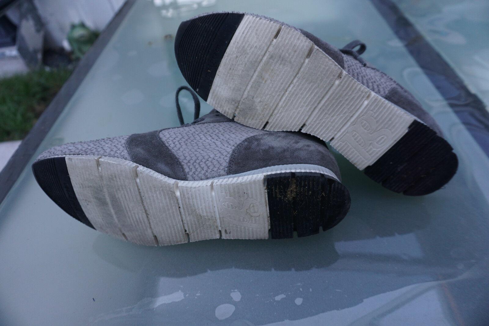 Bequeme PAUL GREEN Damen Schuhe Sneaker Laufschuhe Gr.6 / TOP 40 Leder Grau TOP / 548f68