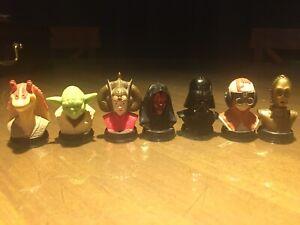 1999-Rare-Star-Wars-Lucas-Film-Phantom-Menace-1-5-Inch-Head-Busts-Vader-Yoda