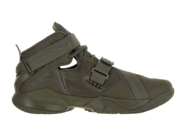 buy popular 0622a 472aa Size 17 Nike Men LeBron Soldier IX 9 Premium Shoes 749490 223 Army Green