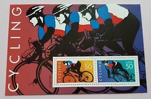 USA-1996-Sports-Cycling-Racing-Bikes-Mini-Sheet-Stamps-Mint-NH