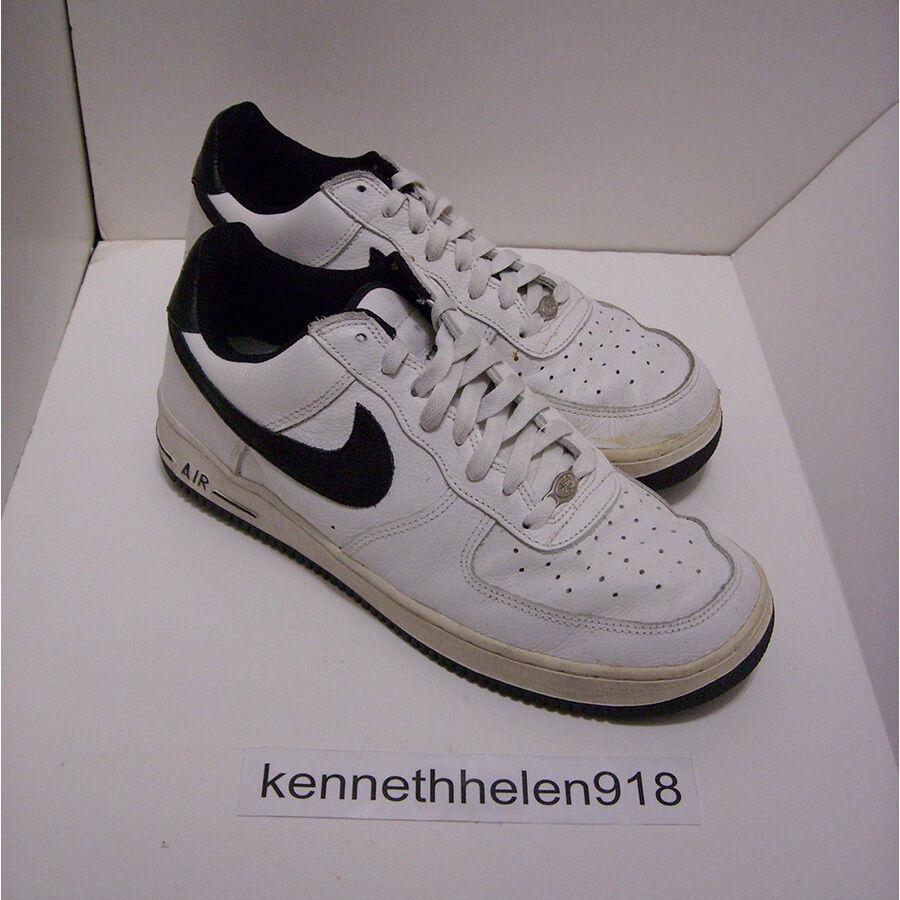 Nike air force 1 b, scarpe da basket 2001 bianco nero 624040-101 Uomo numero 10