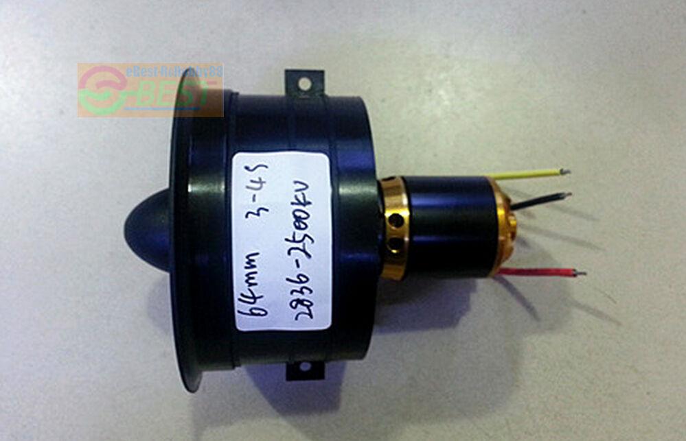 64mm 12 blade 4s fan duct 2836 motor brushless 2500kv for Understanding brushless motor kv