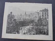 1893 Stich 42  / Luzern ....deutsches Kaiserpaar zu Besuch