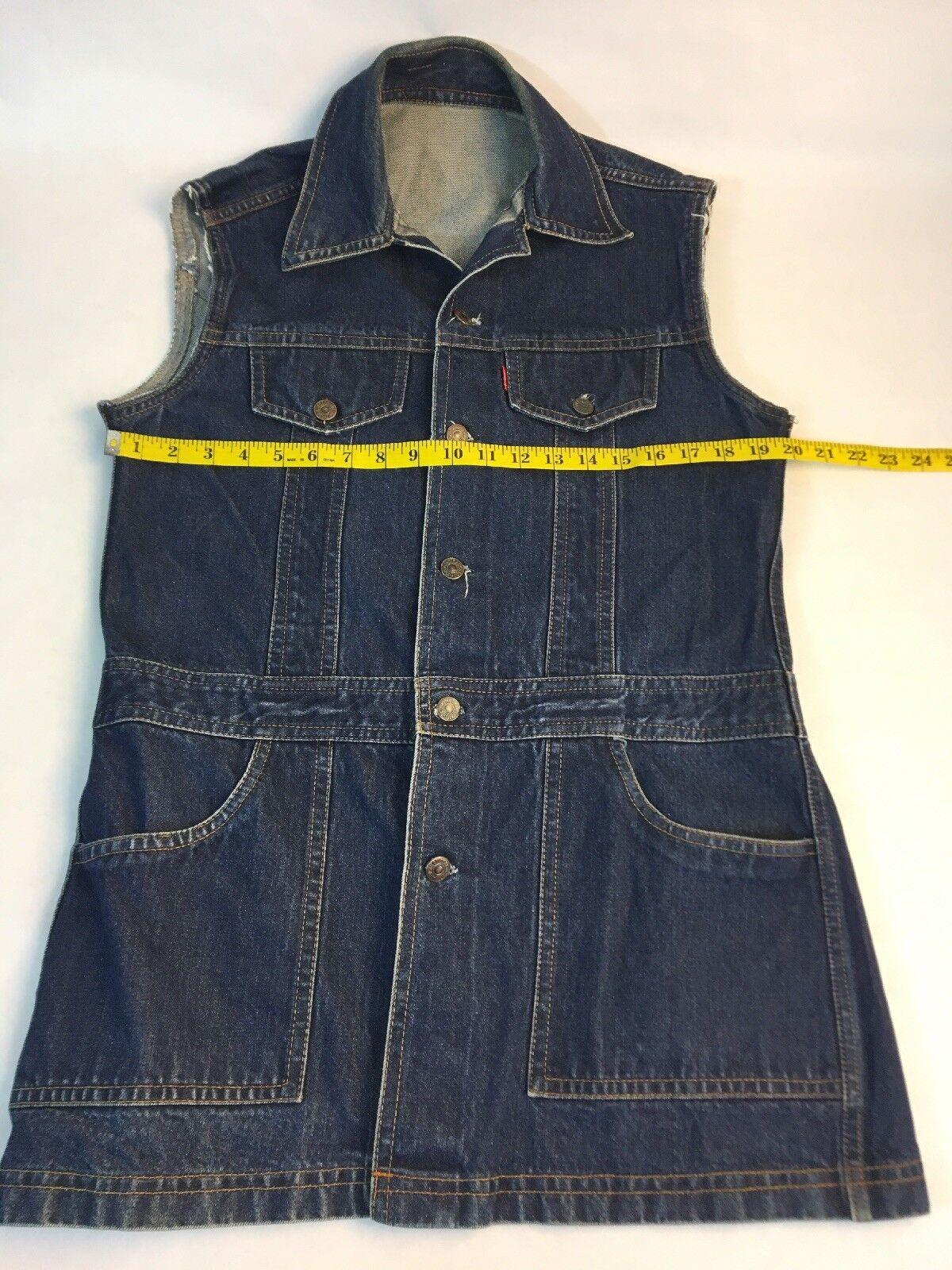 Levi's Big E Denim Jumper Women's Jean Dress Dark… - image 4