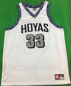 new concept d7eb2 5276c VTG Nike Georgetown Hoyas Patrick Ewing NCAA Jersey Pro Cut ...