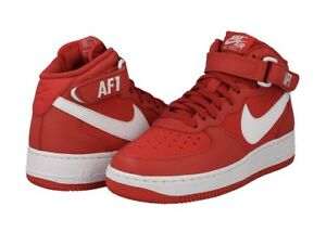 Details about Nike 314195 604 Air Force 1 Mid Big Kids University Red White Shoes Youth Sizes