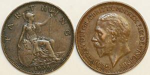 1911 To 1936 George V Bronze Centime Votre Choix De Date