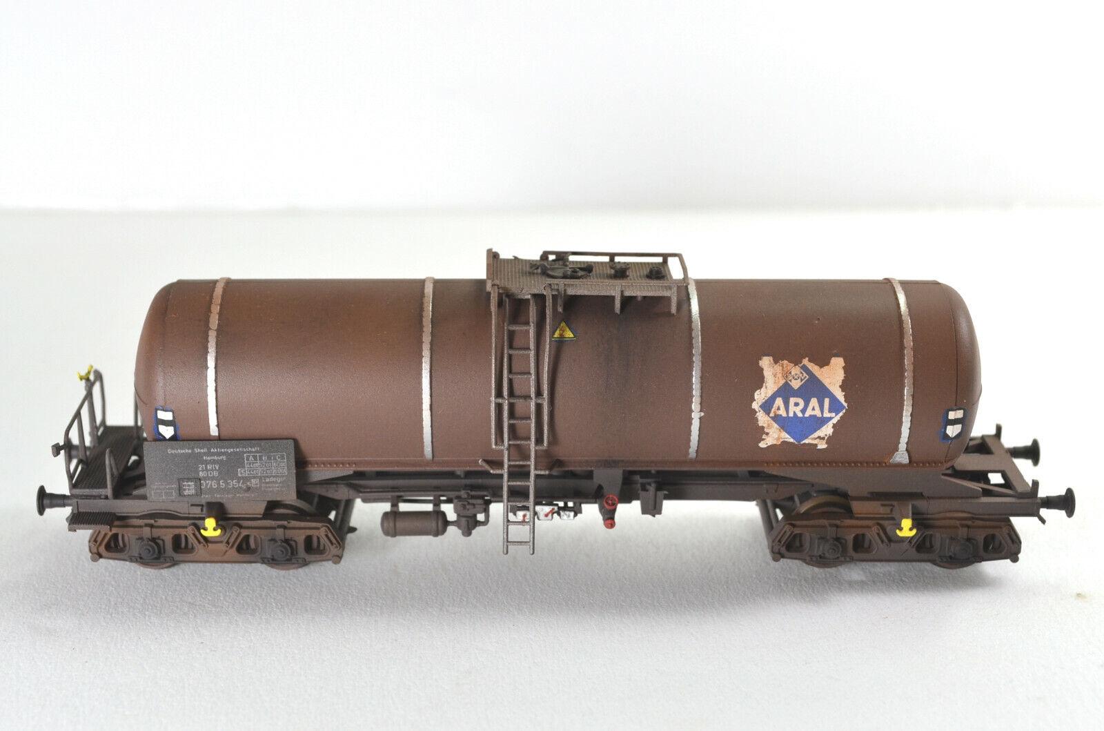 CargoRealistics Roco 4355 DB Kesselwagen Aral Ep.4, gealtert-patiniert