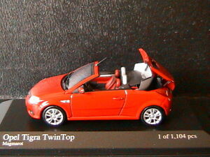OPEL-TIGRA-TWINTOP-2004-1-6-MAGMAROT-MINICHAMPS-400043131-1-43-ROSSO-RED-ROUGE