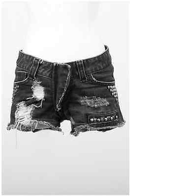 New sexy PUNK RAVE Gothic Jeans ripped Shorts PK-011 ALL STOCK IN AUSTRALIA