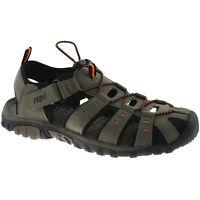 MENS PDQ CLOSED TOE SPORTS SANDALS SIZE UK 6 - 12 WALKING TRAIL TAUPE M040T KD