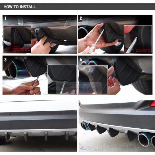 Bumper Diffuser Molding Point Garnish Lip Under Splitter Black for SCION Car