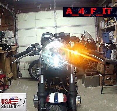 Universal Motorcycle X2 LED Blinker Turn Signal Indicators Amber Light white