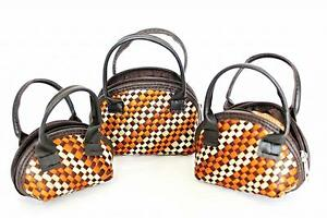 Small-Purses-set-of-3-Brown-Orange-White