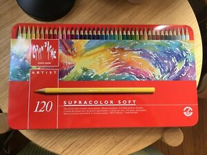 Set Caran d/'Ache Supracolor Pencil 120//Tin 3888.420
