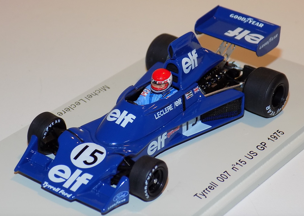 1 43 Spark Tyrrell 007 car  15 1975 US GP Michel Leclere  S1881
