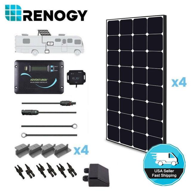 Renogy 400 Watt 12 Volt Monocrystalline Eclipse Solar RV Kit with 30A  Adventurer