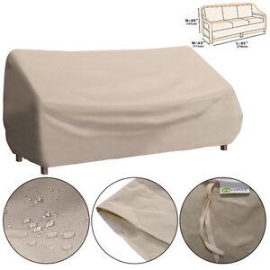 Waterproof High Back Patio Three Seats Sofa Cover Outdoor
