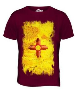 NEW MEXICO STATE GRUNGE FLAG MENS T-SHIRT TEE TOP NEW MEXICAN SHIRT JERSEY GIFT