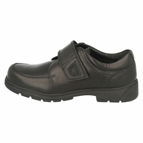 Boys Startrite School Shoes In Black Leather /'Accelerate/' G /& H Fittings