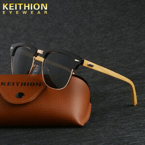 KEITHION-Men-Womens-Polarized-Vintage-Retro-Sunglasses-Wooden-Frame-Glasses