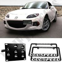 2015 Miata Front License Plate Tow Mounting Bracket Holder Adapter Kit 2x Frames