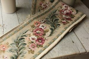 Vintage French border fabric printed cotton per length floral material