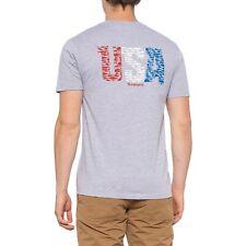 Simms Fishing Shirt  Men/'s 2XL Flag Species T-Shirt Royal Heather C03-18