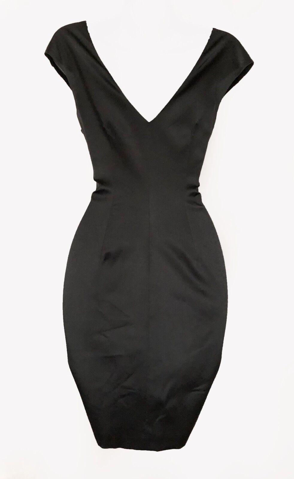 KAREN KAREN KAREN MILLEN UK 10 Silk Satin Mini Glass Print Cocktail Party Race Dress DM179 e27811