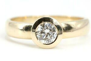 Diamant-Goldring-0-50-ct-VS1-H-Gr-58-Solitaer-Ring-585-14K-Diamanten-Ring-4-84g