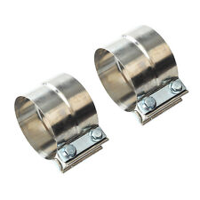 """2.5/"""" Stainless Steel Step Lap Band Exhaust Clamp Muffler Clamp Pipe Clamp 67-250"""