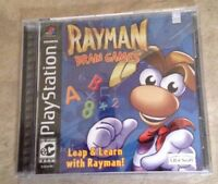 Rayman Brain Games Factory Sealed Black Label Playstation 1 Ps1 Psx