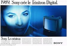 Publicité Advertising 1988 (2 pages) Sony Crée le téleviseur Trinitron