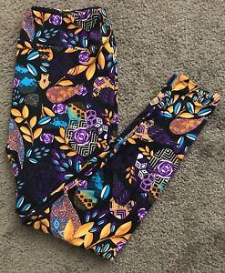 Lularoe NWT TC leggings Floral Geometric black green teal blue purple Tall Curvy