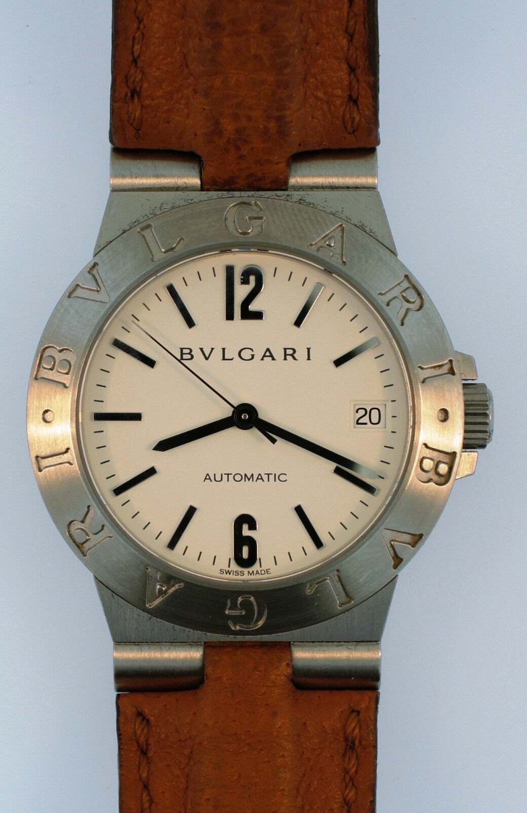 25fa011b80b Bvlgari Diagono LCV35S Stainless Steel Automatic Watch 35mm Case for sale  online