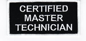 CERTIFIED MASTER TECHNICIAN SEW//IRON ON PATCH EMBROIDERED COMPUTER GEEK SQUAD
