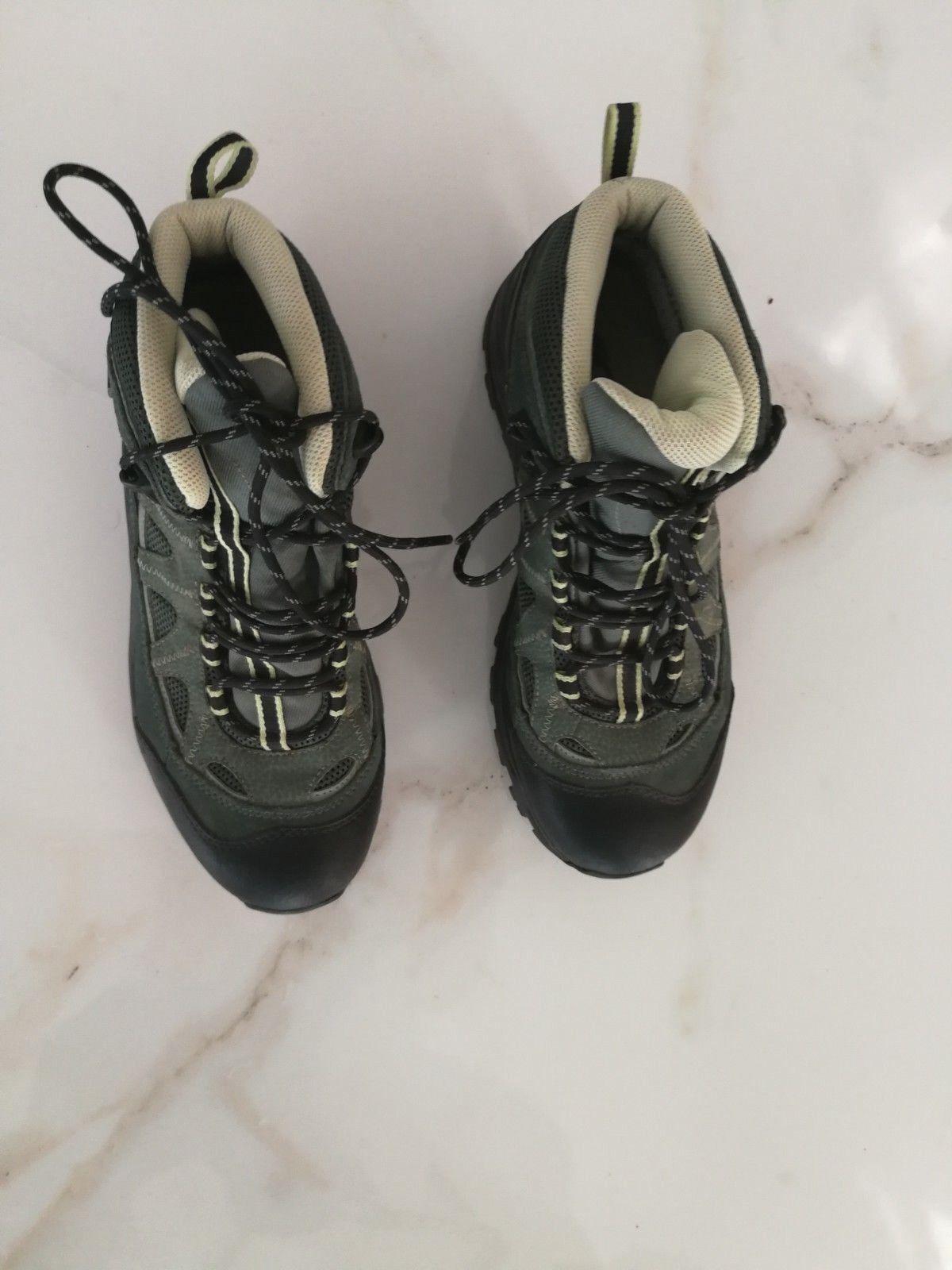 Salomon  Women Hiking Leather Shoes Gore Tex Grey Black US 8