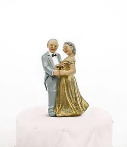 Tortenaufsatz Torten Deko Goldene Hochzeit Tortenfigur Brautpaar Neu