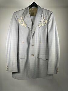 Circle S Western Cowboy Rockabilly 1970's Vintage Anzug 2 Stück Herren 40l Hose