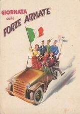 6690) GIORNATA DELLE FORZE ARMATE 1954. JEEP CON ALPINO, AVIERE, MARINAIO.