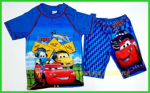 brand new SWIMWEAR Cars McQueen KIDS BOYS SWIM SUIT SWIMMING BATHERS TOP TRUNK