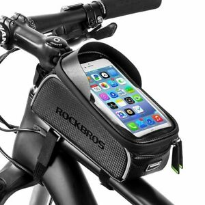 RockBros-Bike-6-0-Inch-Touch-Screen-Water-Resistant-Front-Tube-Cycling-Bag-Black