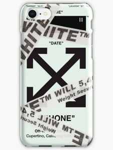 official photos 0e48b 98bac Details about Off-White Belt Wrapped iPhone X 5 SE 6 7 8 S Plus Off White  Phone Case