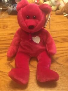 TY Beanie Baby Valentina The Bear With Tag Retired   DOB: February 14th, 1998